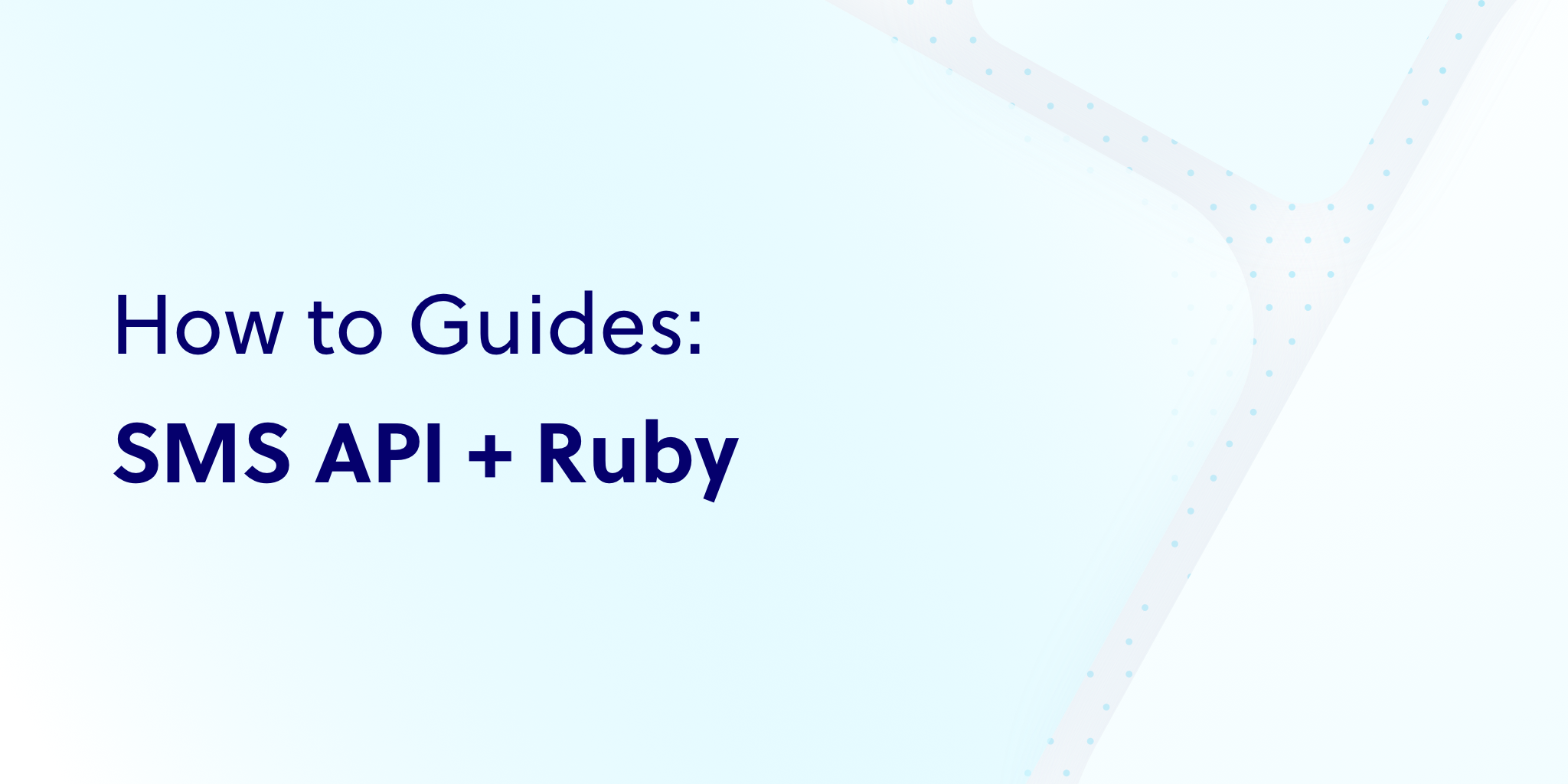 How to send SMS in Ruby using Plivo's Messaging API